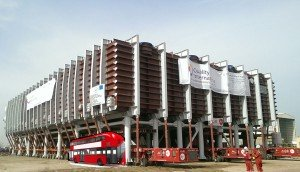 MED Evaporator in Sharjah with double decker bus shown for scale